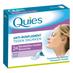 Quies Anti-Ronflement 24 Bandelettes Nasales Grand