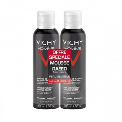 Vichy Homme Mousse à Raser Anti-Irritations 2 X 200 ml,