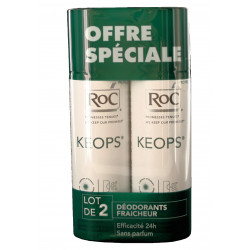 RoC Keops Spray Déodorant Fraîcheur Lot de 2 x 100 ml