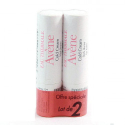 Avene Cold Cream Stick Lèvres 4g, Lot de 2