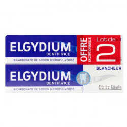 Elgydium Dentifrice Blancheur Lot de 2 x 75 ml