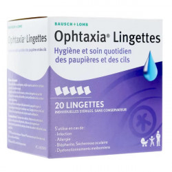 Ophtaxia 20 lingettes
